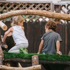 Outside activities for kids at reggio inspired preschool